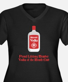 Vodka Lover Women's Plus Size V-Neck Dark T-Shirt