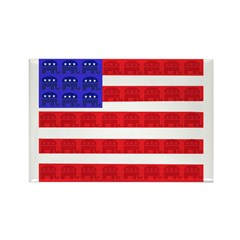 American Flag Republican Desi Rectangle Magnet (10