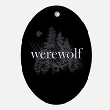 Werewolf Forest Ornament (Oval)