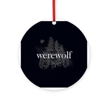 Werewolf Forest Ornament (Round)