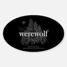 Werewolf Forest Sticker (Oval)