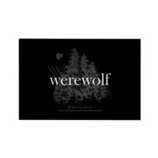 Werewolf Forest Rectangle Magnet