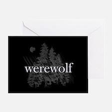 Werewolf Forest Greeting Card