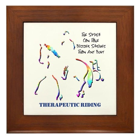Therapeutic Riding Framed Tile