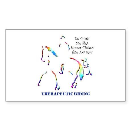 Therapeutic Riding Rectangle Sticker