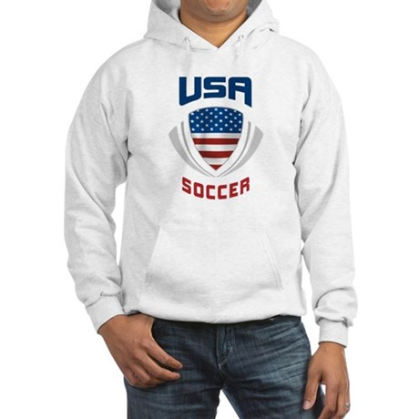 Soccer Crest USA blue Hooded Sweatshirt