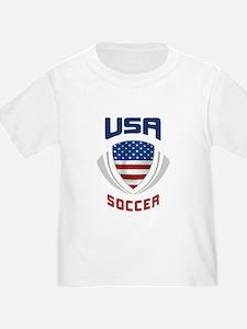 Soccer Crest USA blue T