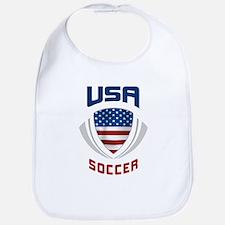 Soccer Crest USA blue Bib