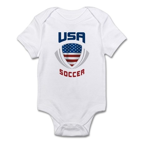 Soccer Crest USA blue Infant Bodysuit
