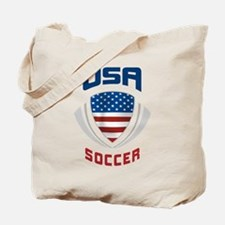 Soccer Crest USA blue Tote Bag