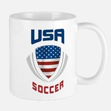 Soccer Crest USA blue Mug