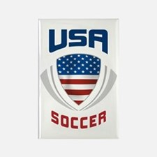 Soccer Crest USA blue Rectangle Magnet