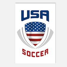 Soccer Crest USA blue Postcards (Package of 8)