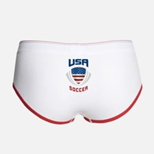 Soccer Crest USA blue Women's Boy Brief