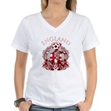 England Womens V-Neck T-shirts