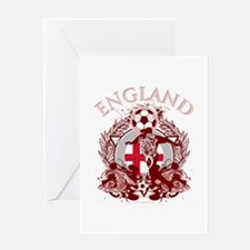 England Soccer Greeting Card