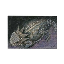 Horned Toad Rectangle Magnet