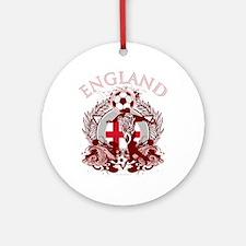 England Soccer Round Ornament