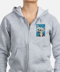 Portrait of a Chinese Crested Zip Hoodie