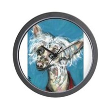 Portrait of a Chinese Crested Wall Clock