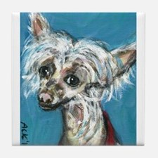Portrait of a Chinese Crested Tile Coaster