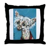Chinese crested Throw Pillows