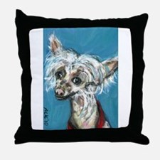 Portrait of a Chinese Crested Throw Pillow