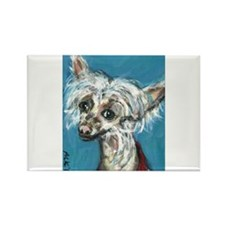 Portrait of a Chinese Crested Rectangle Magnet (10