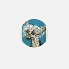 Portrait of a Chinese Crested Mini Button