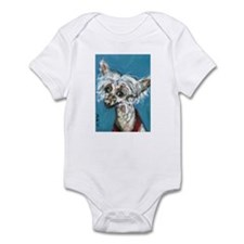 Portrait of a Chinese Crested Infant Bodysuit