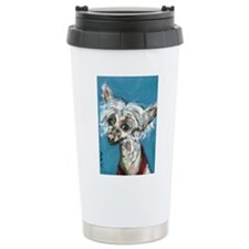 Portrait of a Chinese Crested Travel Mug