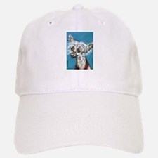 Portrait of a Chinese Crested Baseball Baseball Cap