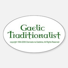 Gaelic Traditionalist Oval Decal