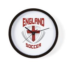 Soccer Crest ENGLAND Wall Clock