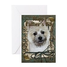Stone Paws - Cairn Terrier - Greeting Card