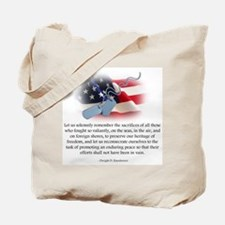 Cute President eisenhower Tote Bag