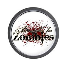 Cuckoo for Zombies Wall Clock