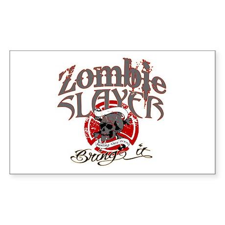 Zombie Slayer Sticker (Rectangle)