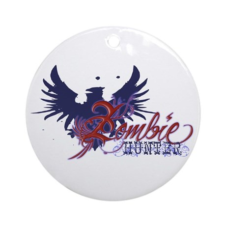 Zombie Hunter Ornament (Round)