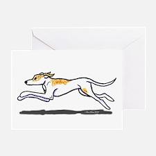 Running Greyhound Greeting Card