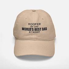 World's Best Dad - Roofer Baseball Baseball Cap