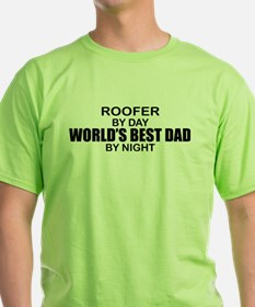World's Best Dad - Roofer T-Shirt