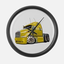 Peterbilt 587 Yellow Truck Large Wall Clock