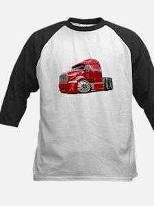 Peterbilt 587 Red Truck Kids Baseball Jersey