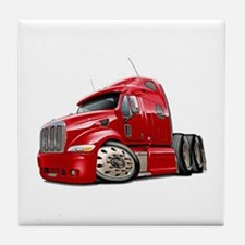 Peterbilt 587 Red Truck Tile Coaster