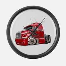 Peterbilt 587 Red Truck Large Wall Clock