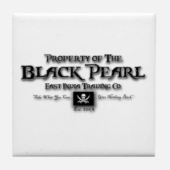 Black Pearl Tile Coaster