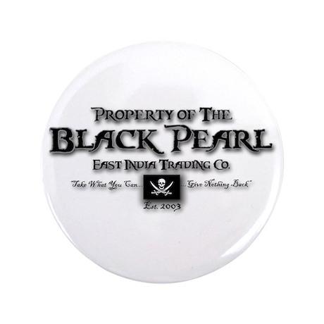 """Black Pearl 3.5"""" Button"""