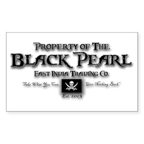 Black Pearl Sticker (Rectangle)