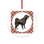 Tibetan Mastiff Ornament (Round)
